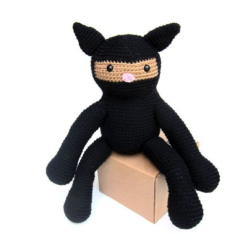 Ninja Cat Stuffed Animal Crochet Pattern