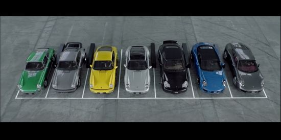 Creating a symphony with 7 generations of Porsche 911 Sometimes, you don't need a piano to create a symphony. Watch how 7 generations of Porsche 911 play a very special song. Great Video!