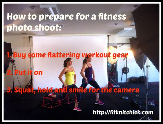 prepare for a fitness photo shoot