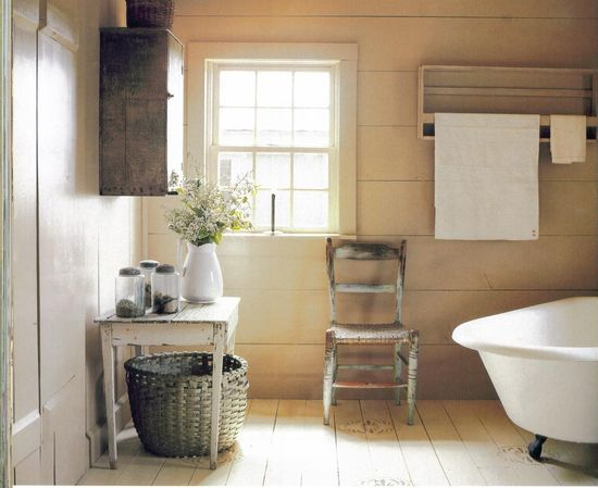 This bathroom is simple and clean but comforting with the woodwork. I find a lot tile so cold and many bathrooms here in Ireland seem to be tiled from floor to ceiling - I suppose its good for avoiding damp and moisture build up but we use the bathroom so often and need it every day - why not make it a comfort area?