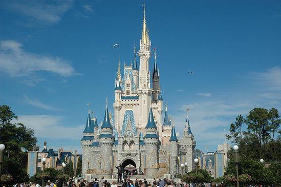 Cinderella's castle at The Magic Kingdom, Walt Disney World in Lake Buena Vista, FL