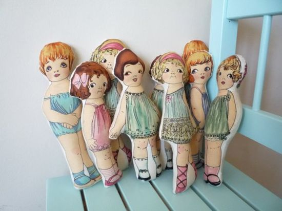 vintage inspired cloth dolls ?