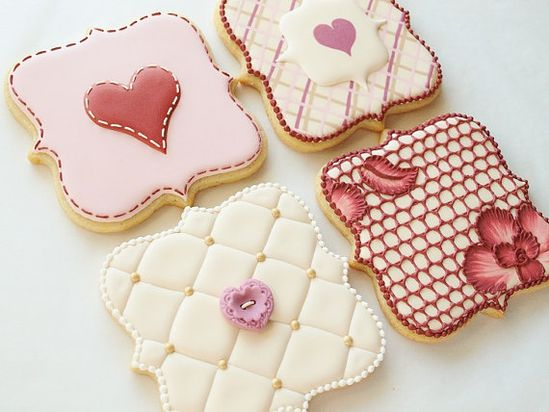 beautiful Valentines Day cookies