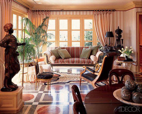 Painted Floors Photos - Painted Wood Floor Designs Photos - ELLE DECOR