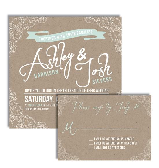 DIGITAL Custom Printable Square Lace Wedding Invitation. Etsy.