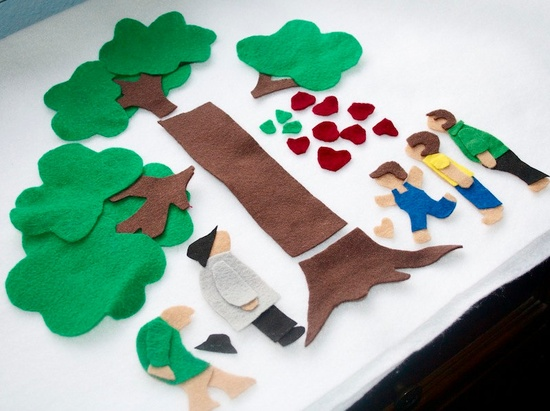 Children's Toy The Giving Tree - Felt Board Flannel Board Story Set. $20.00, via Etsy.
