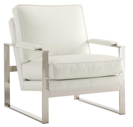LUXE White Ostrich Leather Chair Courtesy of InStyle-Decor.com Beverly Hills Inspiring & supporting Hollywood interior design professionals and fans, sharing beautiful luxe home decor inspirations, trending 1st in Hollywood Repin, Share & Enjoy
