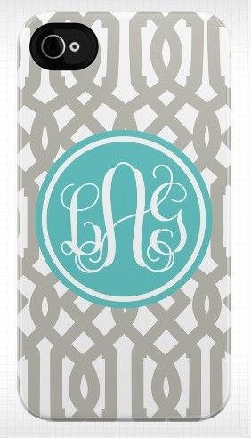 i want a monogramed case