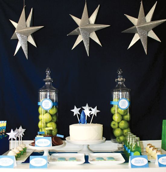 Toy Story Space Birthday Party Dessert Table