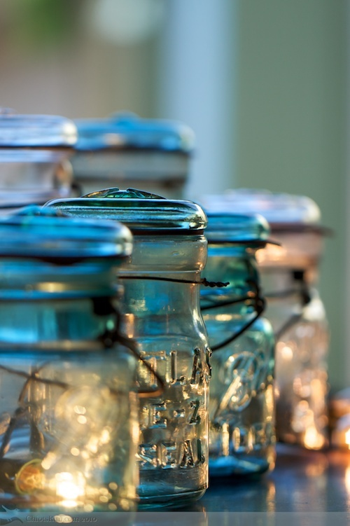 """Lovely candles in jars.  As my mother would say, """"We can make that!"""""""
