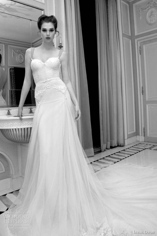 inbal dror 2013 bridal lingerie inspired garter bodice wedding dress straps