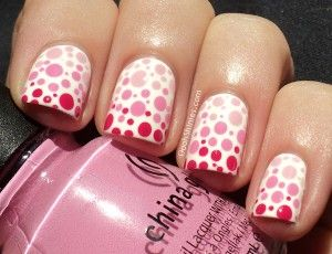Bubble gum ombré dots