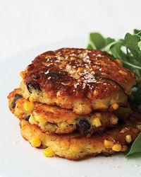 Corn and Shiitake Fritters Recipe  on Food & Wine