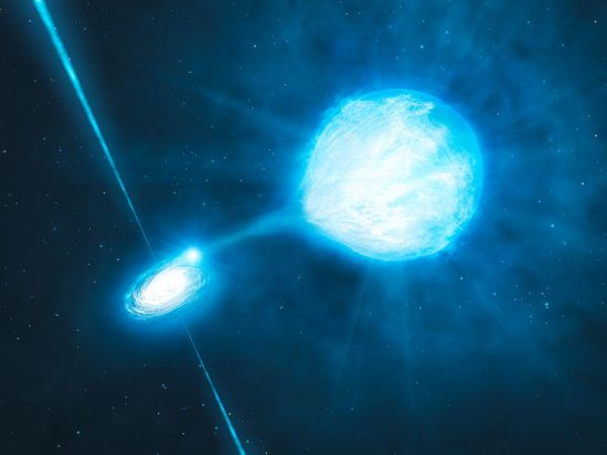 A Black Hole Eating A Star