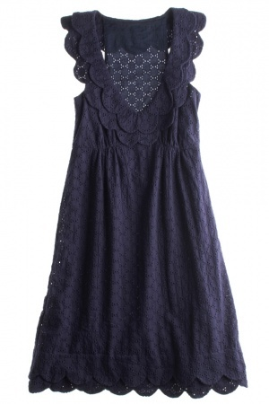 Navy Eyelet Dress- so cute!