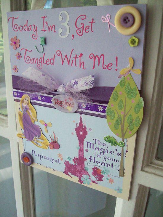 Rapunzel Birthday Party sign. $15.00, via Etsy.