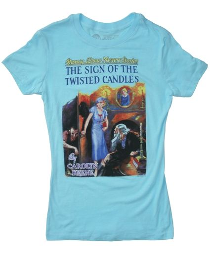 Nancy Drew book cover t-shirt