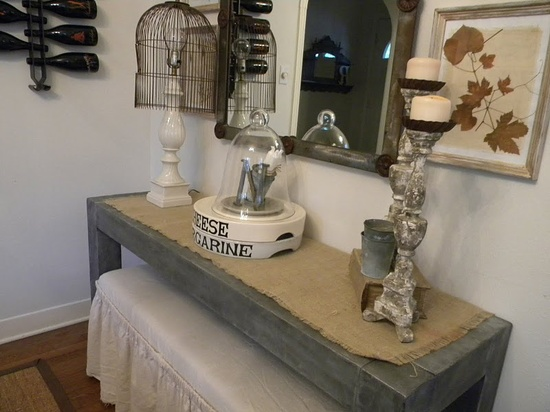 Zinc inspired table- Really great blog