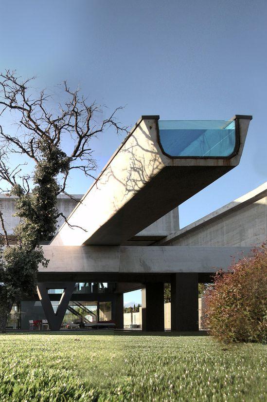 AMAZING POOL: Hemeroscopium House with cantilevered pool. 4/27/2012 via @Archinect
