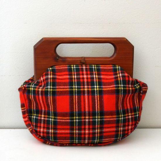 vintage plaid purse...