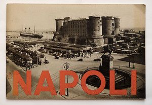 1936 Italy Napoli Naples Vintage Travel Guide Book Illustrated