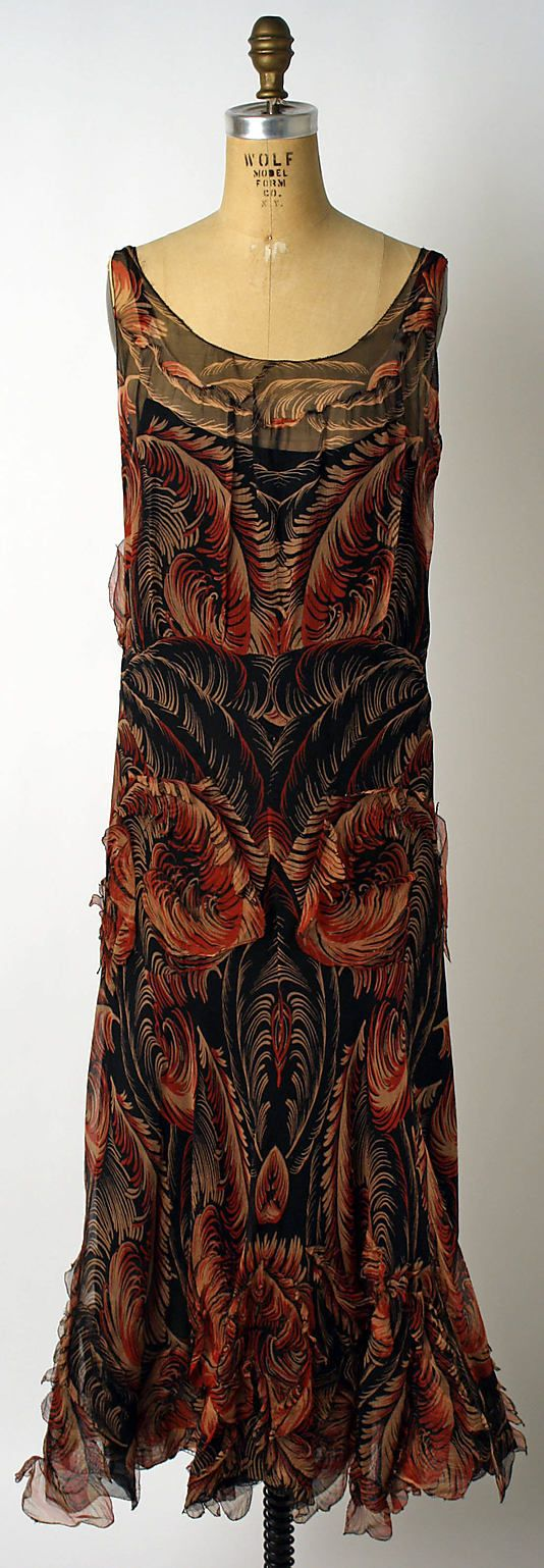 Evening Dress - 1930-32 - House of Chanel (French, founded 1913) - Attributed to Coco Chanel (French, 1883-1971) - Silk