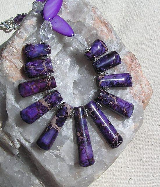 Jasper Amethyst & Quartz Crystal Gemstone by SunnyCrystals on Etsy, £26.25