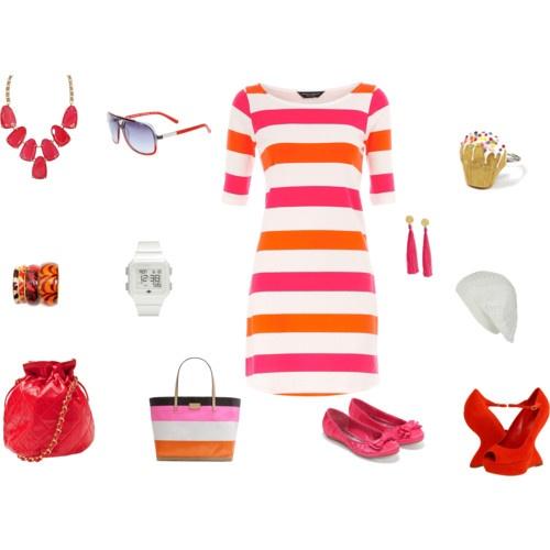 pink and orange stripes