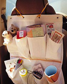 shoe bag organizer for the car & all the toys, books & etc