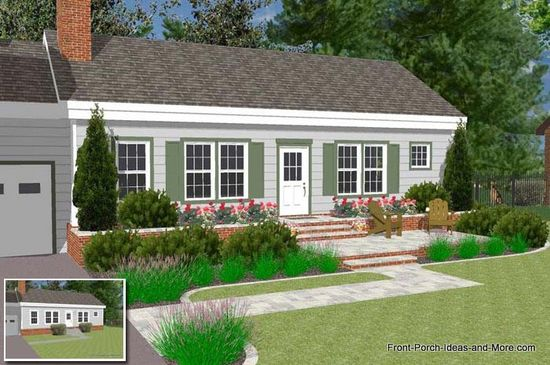 Front Porch and Deck Ideas / Porch R6 | Gable roof over door ...