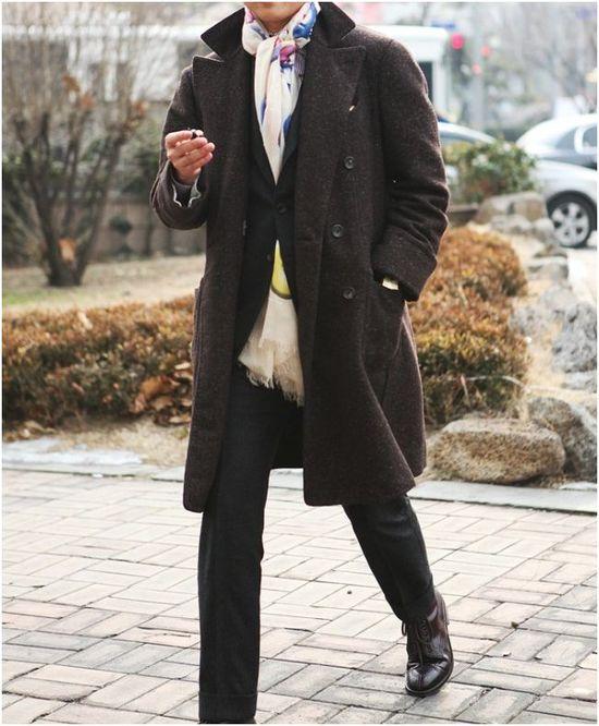 DARK BROWN COAT Mens Fashion 2013