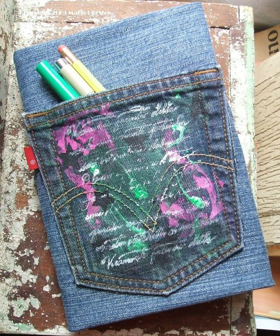 Craft a Denim Book Cover Made From Recycled Jeans