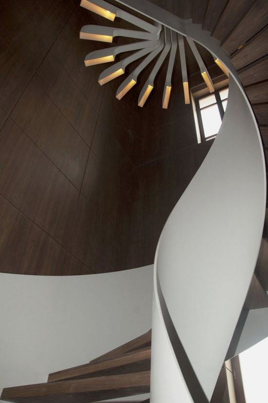 Unconventional, circular interior design.