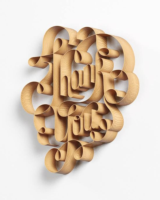 The Stunning 3D Typography of David McLeod