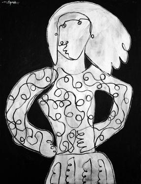 """Saatchi Online Artist Christopher Mudgett; , """"Woman III"""" #art #RyanWhite"""