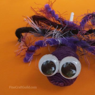 Hairy Halloween Candy Spiders!!!! These will be a great hit!! Here's the tutorial on how to make 'm. :: FineCraftGuild.com