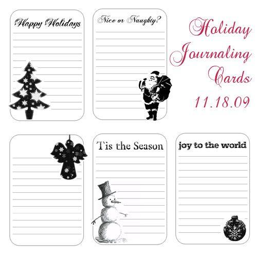 christmas journalling tags
