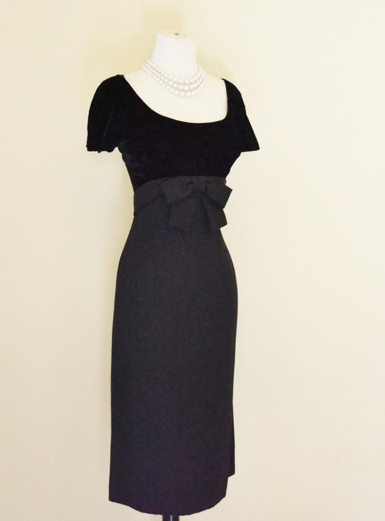 1960's velvet Bodice Dress