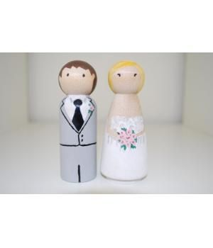 Personalized wedding cake topper.