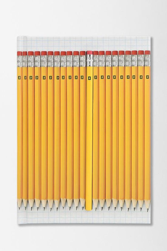 Hidden Pencil Notebook #urbanoutfitters