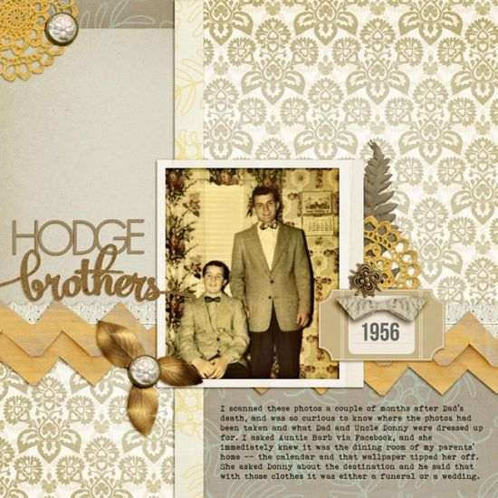 Ideas for Mixing Patterned Papers on Scrapbook Pages