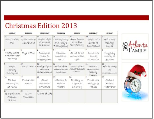 2013 Christmas Edition - Best holiday events in Atlanta for families