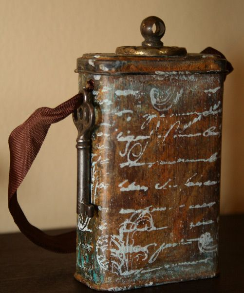 The Altered Tin - From BandAid Box to Mixed Media @Cindy Haire