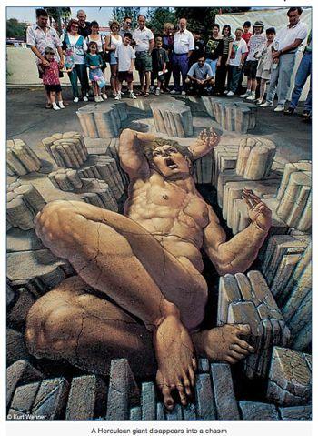 Sidewalk Art - 3-D