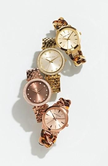 MICHAEL Michael Kors Fall Watches in Gold, Tortoise, & Rose Gold