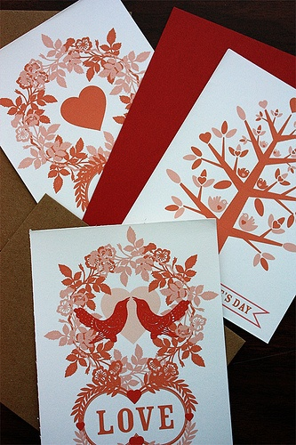 Valentine's Day cards by Benign Objects