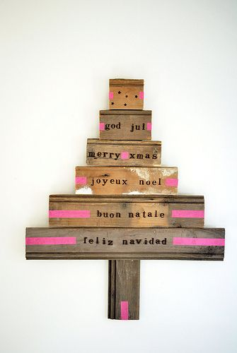 love these simple wooden Trees