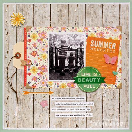 Summer Memories {Pebbles} - Scrapbook.com