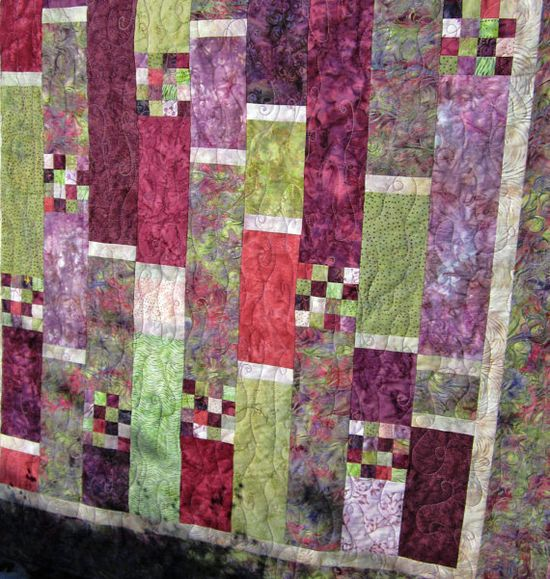 Handmade Quilt Spring Beauty by PatchworkMountain on Etsy