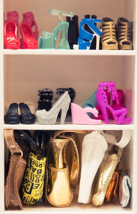 A peek inside Barbie's closet. #ShoeLover